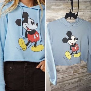 Tilly's Tops - MickeyMouse Cropped Hoodie